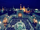 The shrine of Imam Ridha (A.S) during the month of Muharram