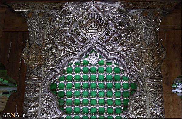ضریح در حال ساخت امام حسین + زائر 6 ماه در راه در قالب عکس(مذهبی)