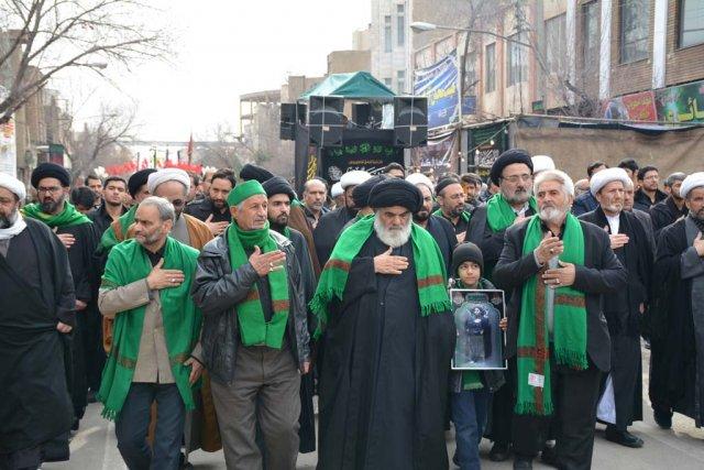 دسته عزاداری مؤسسه جهانی سبطین علیهما السلام در روز شهادت حضرت زهرا سلام الله علیها